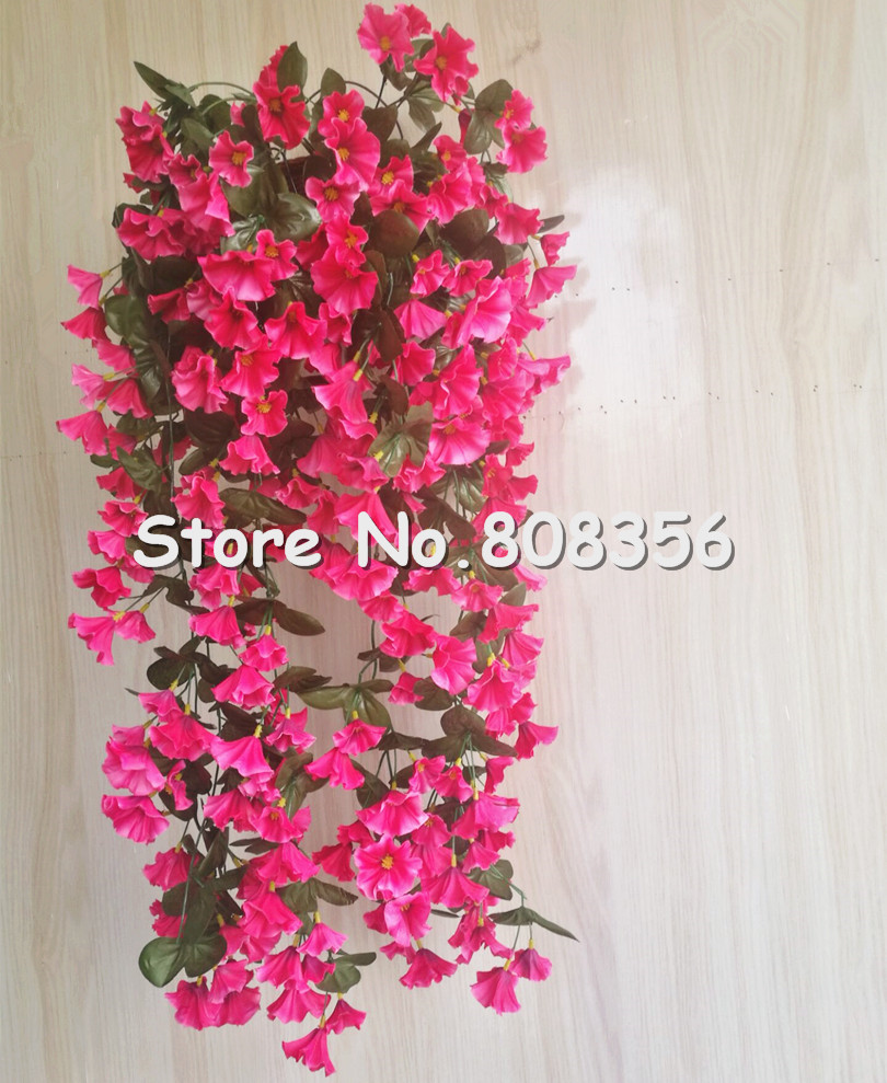 10pcs Morning Glory Vines Hanging Vine Flowers with wall vase for ...