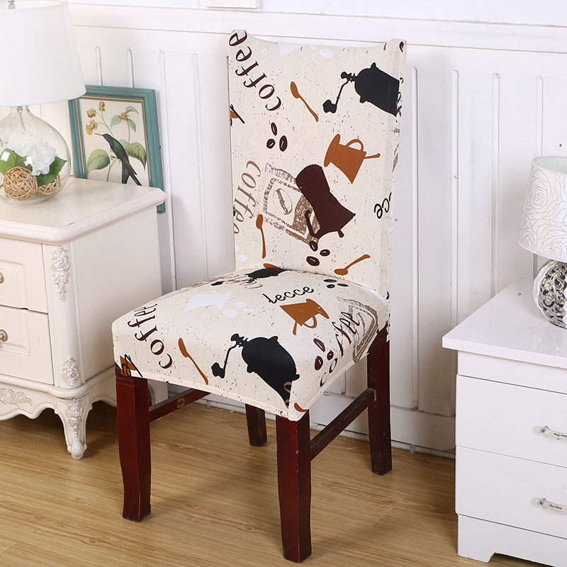 Floral Print Pattern Spandex Elastic Removable Chair Cover