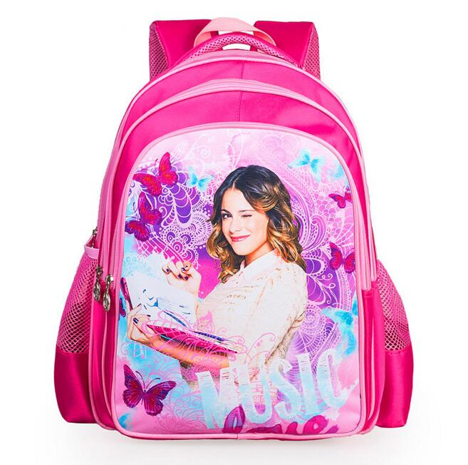New Arrival Nylon Children Bag Violetta School Bags For Girls Kids Backpack Schoolbag girls lovely book bags in stock