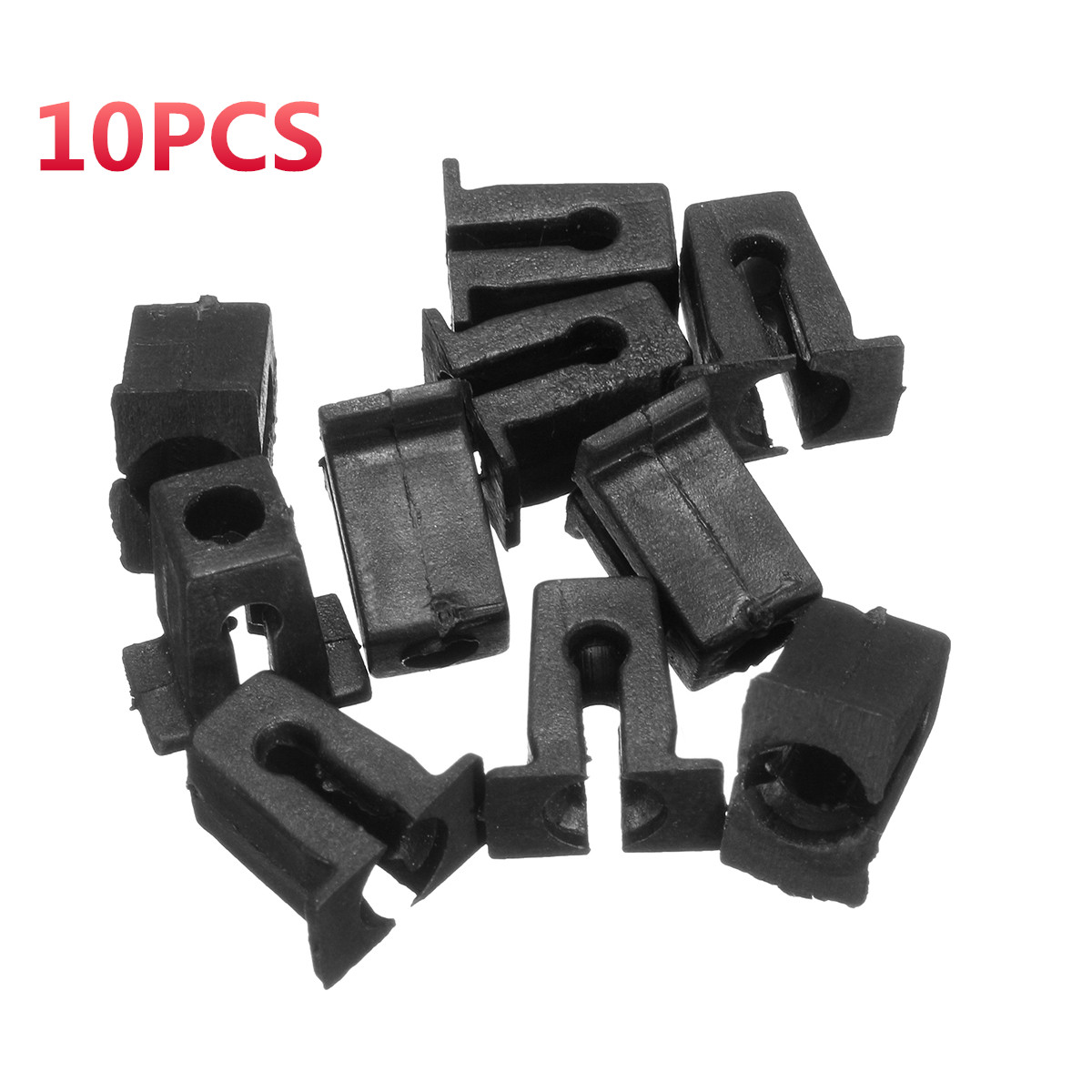 10x Clips For Mercedes Audi Vw Push Type Mounting Rivet Clips Black Plastic