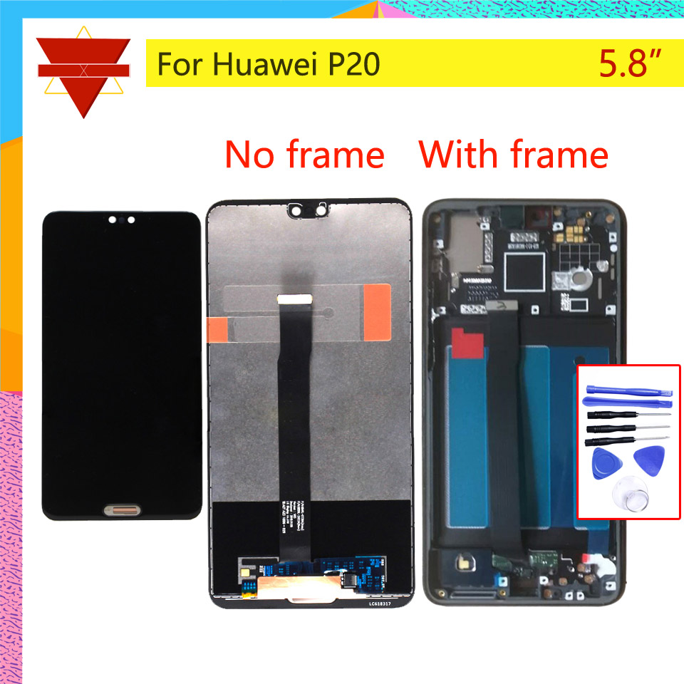 Original 5 8 For Huawei P20 LCD Display Touch Screen Digitizer LCD With Frame P20 LCD