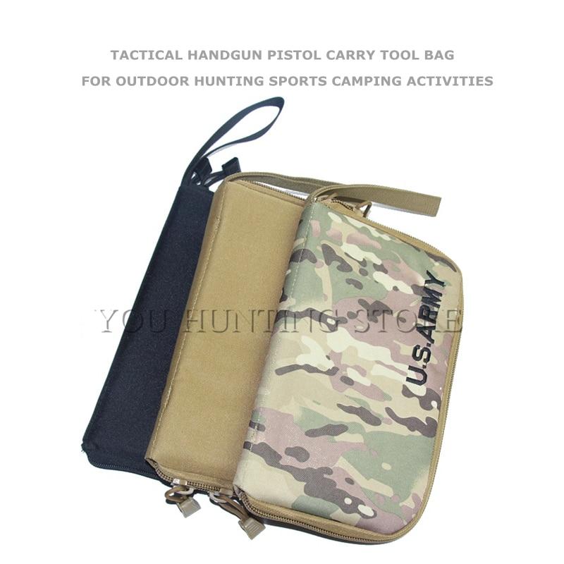 Prix pour NOUS Armée 600D Tactique Pistolet Pistolet Carry Outil Sac En Plein Air Gun Protection Cas Militaire Poche pour Accessoires de Chasse Gun Holster