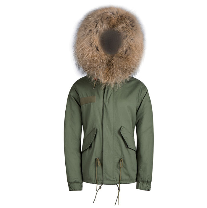 Parkas Casual Army Green Faux Fur Hooded Lined Military Short Male Famous Brand High Street Outerwear Winter Coat