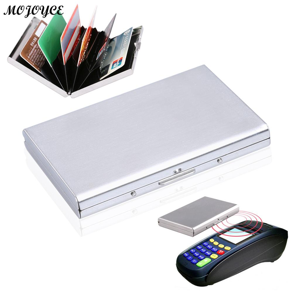 MOJOYCE Stainless Steel Bank Male Business Card Fashion ID Card Case Credit Holder Walle ...