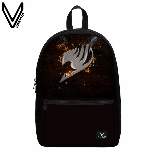 Anime Fairy Tail Canvas Casual 3D Prints Backpack