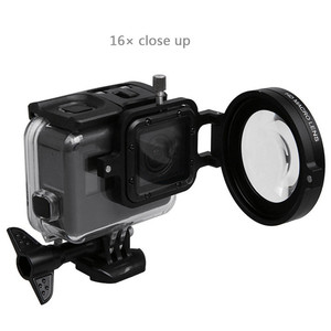 Image 4 - Underwater Lens Filter Red Filter 16X Close up lens 16 Times Macro Lens for GoPro Hero 7 6 5 Action Camera Diving Accessories