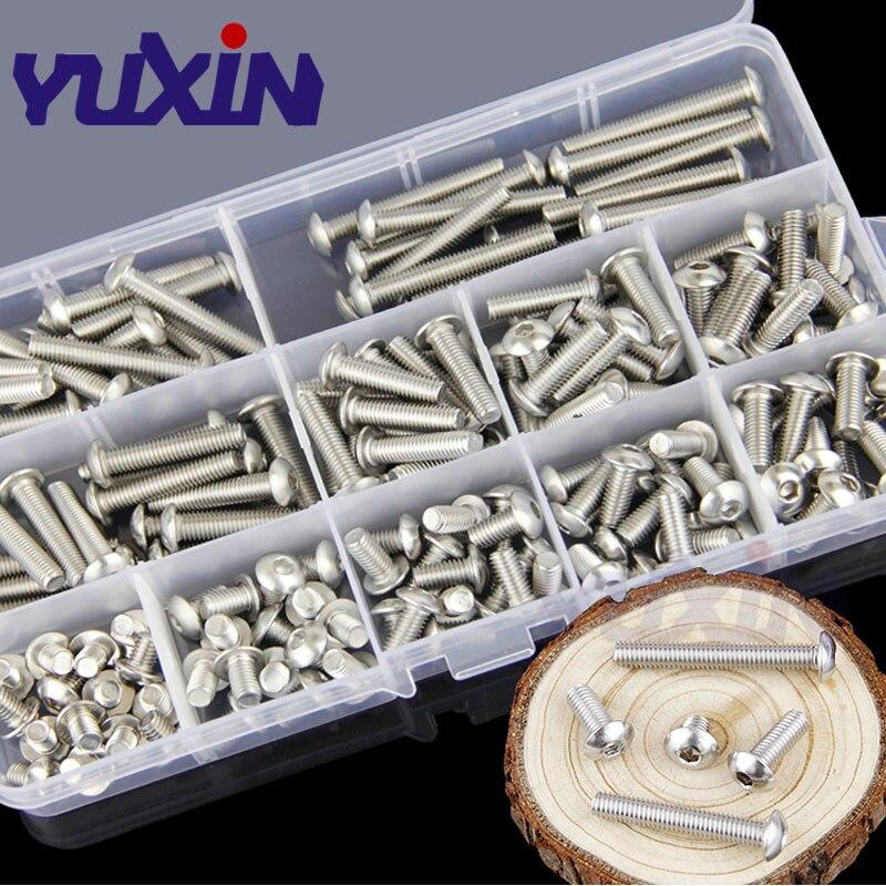 Bin Zhang 260Pcs Square Nut 304 Stainless Steel Machine Screw Nuts M3//M4//M5//M6 //M8//M10