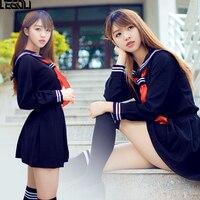 HOT Japanese Korean Anime Hell Girl Cosplay Costume School Uniforms Cute Girl Sailor Suit JK Student