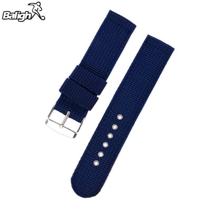 Correa de reloj de pulsera de lona de tela de nailon militar de la OTAN de 18mm Correa 20/22/24mm con hebilla de acero inoxidable