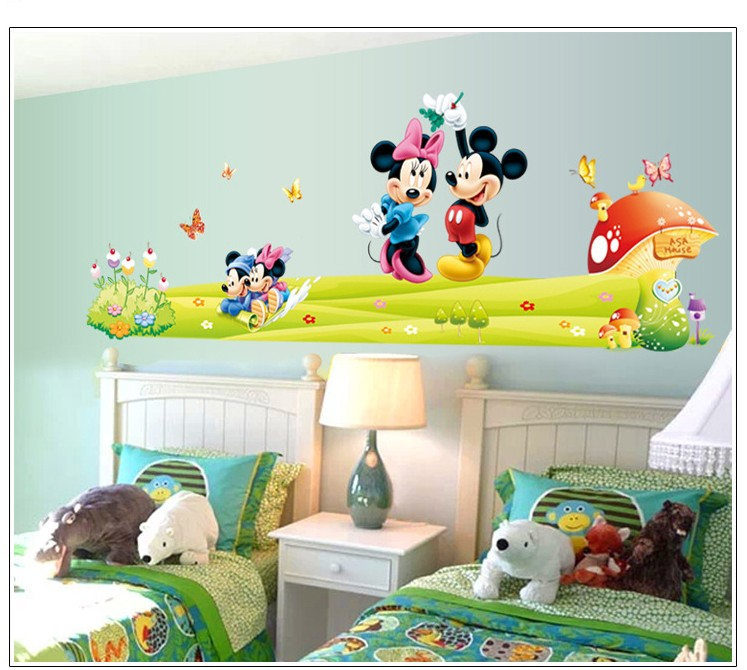Mickey And Minnie Room. Top Pcslot Mickey Mouse Wallpaper Cartoon ...