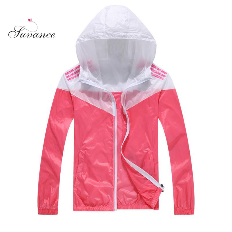 Suvance Casual Sunscreen Print Couples Thin Windbreaker Fast Dry Sun Proof Transparent Jacket Size S-3xl Basic Quality Outwear