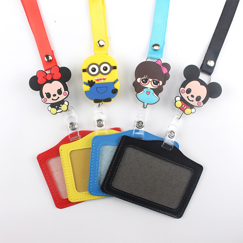 New 2 Species Features Retractable Lanyard Reel Nylon Cord High Quality Cartoon Badge Reel For School Office Hospital Business