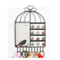 European Birdcage Jewelry Rack Display Stand Jewelry Storage Rack Earrings Ear Nail Necklace Collection Shelf Holder