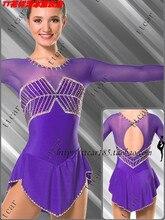 figure skating clothing girls purple ice skating dress custom figure skating clothing free shipping dress skating custom