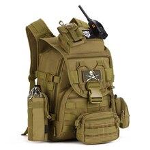 Black Nylon 40L Tactical Backpack Rucksacks Military Army Bag Men Women Outdoor Waterproof Travel Hiking Camping Bag