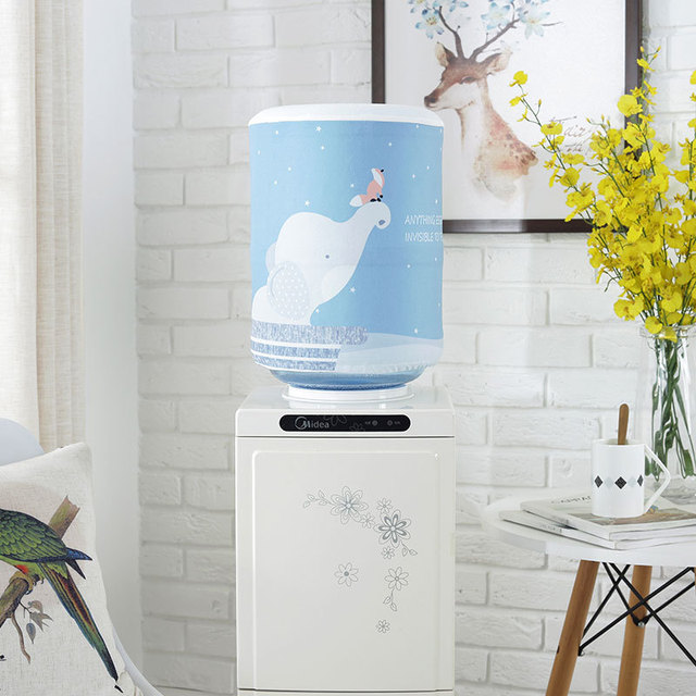 Printed Cartoon Animal Cloth Art Drinking Fountains Barrels Water Dispenser Dust Cover Household Merchandises Protector FC003