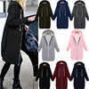 Autumn Winte Women Casual Long Zipper Hooded Jacket Hoodies Sweatshirt Vintage Plus Size 5XL Pink Outwear Hoody Coat Clothing