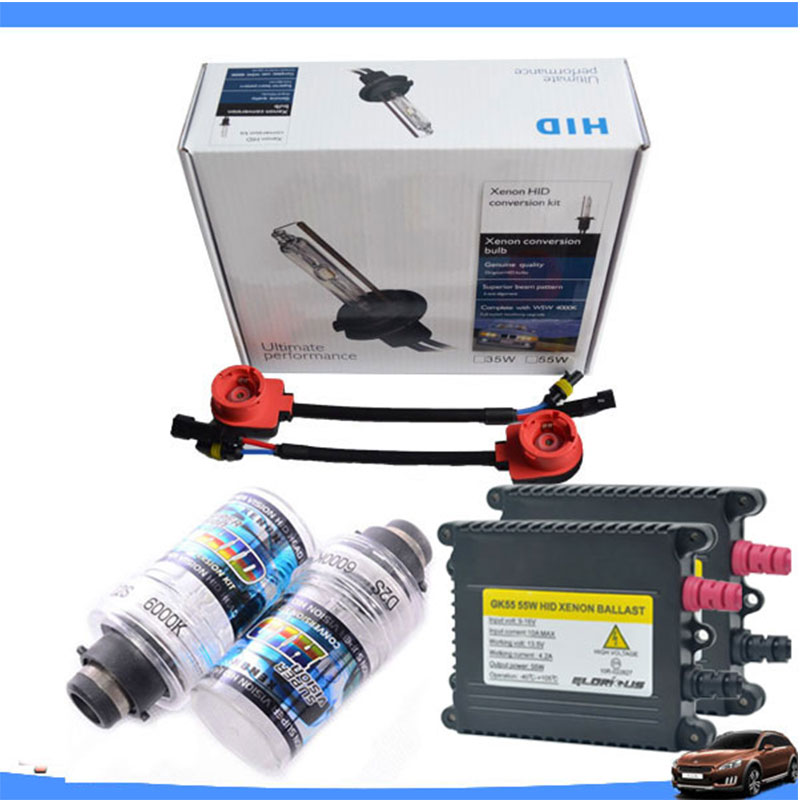 Xenón D2S hid kit AC 55 W 4300 K 5000 K 6000 K 8000 K fuente de luz de coche Xenon bombilla coche faros HID lastre