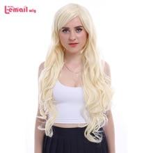 L email peruk 32 inç 80cm Uzun Cosplay Peruk 5 Renkler Dalgalı Kahverengi Bej Sentetik Saç Peruk Cosplay peruk