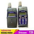 Reformado un año de garantía libre de la Original 2 G GSM 900/1800 desbloqueado Ericsson T29 teléfono celular móvil dark blue