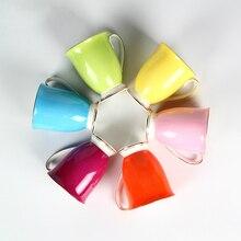 Taza creativa de la moda europea patrón de flor de Color café con leche taza de cerámica de Alta temperatura de cocción no se desvanecen color puro