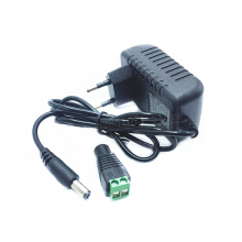 1 шт. 24 Вт ЕС США вилка Драйвер адаптер AC110V 220 В к DC 12 В 2A 5,5*2,1 мм светодиодный источник питания+ 1 шт. гнездовой разъем для светодиодной ленты