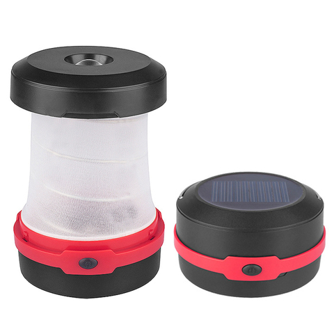 Portable Solar LED Camping Lantern USB Rechargeable Collapsible Camping Light for Outdoor Hiking with 18650 battery 1200mAh Lahore
