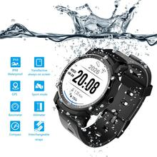 Sports Smartwatch GPS Healthy Heart Rate Smart Watch Touch Screen Bluetooth Waterproof Compass Multi-mode Sports Wearable Device