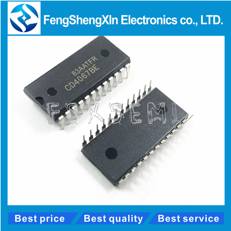 2pcs/lot CD4067BE <font><b>CD4067</b></font> Demultiplexers IC DIP-24 image