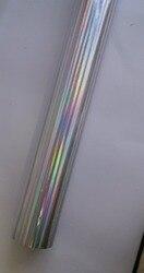 Горячее тиснение фольгой голографической фольги серебряный цвет B24 вертикальный луч горячий пресс-на бумаге или пластиковой 64 см x 120 м тепл...