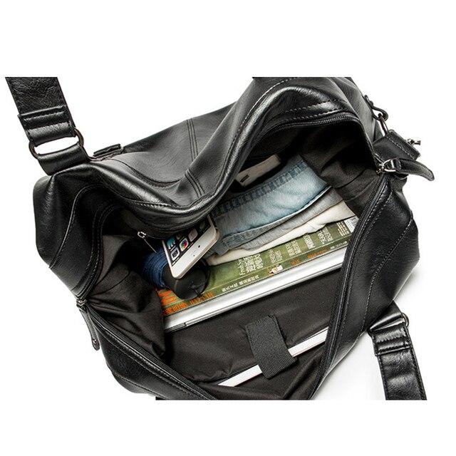 Marque hommes sac à main en cuir grande capacité sac de voyage sac à bandoulière homme fourre-tout voyage sac de sport décontracté Messenger sacs à bandoulière