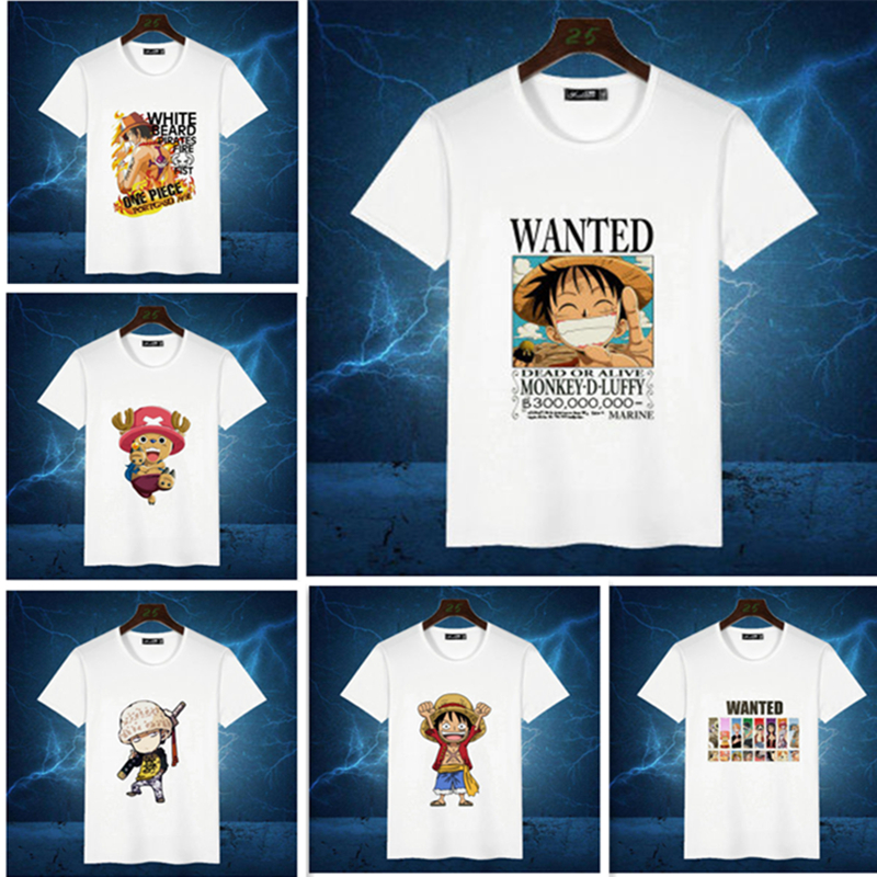 Japanese anime One piece Luffy cosplay costume Portgas Luffy Trafalgar Law T-Shirt cosplay Summer young men and women clothing