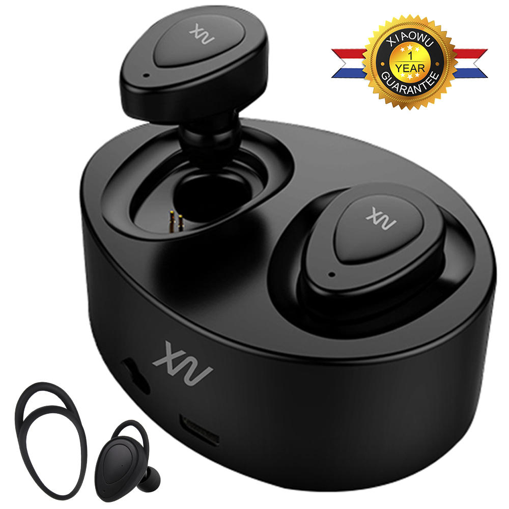 Original XIAOWU k2 K5 mini twins headphone Bluetooth 4.1 Earphone fone de ouvido Bluetooth with mic for iphone 8/ Xiaomi /huawei mini bluetooth earphone stereo earphone handsfree headset for iphone samsung xiaomi pc fone de ouvido s530 wireless headphone