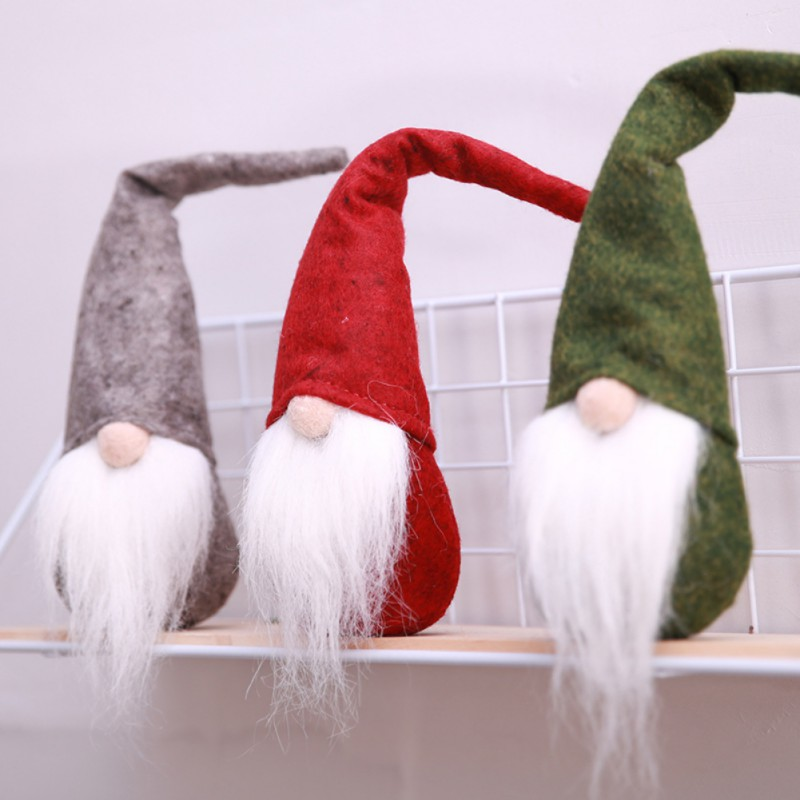 cute beard christmas elf decoration new year festival dinner party christmas decorations for home 2018 christmas party decor - Elf Christmas Party Decorations