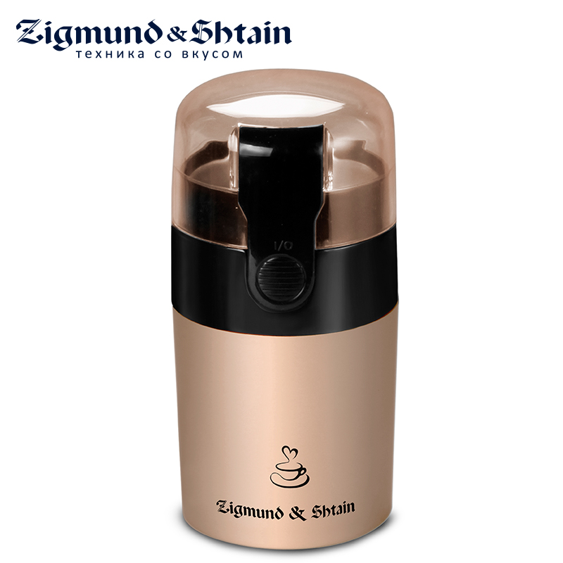 Zigmund & Shtain ZCG-08 Electric Coffee Grinder Mini Home Kitchen Salt Pepper Mill Spice Nuts Seeds Coffee Bean Grinder Machine coffee bean roasting machine household mini stainless steel electric drum type rotation coffee roaster zf