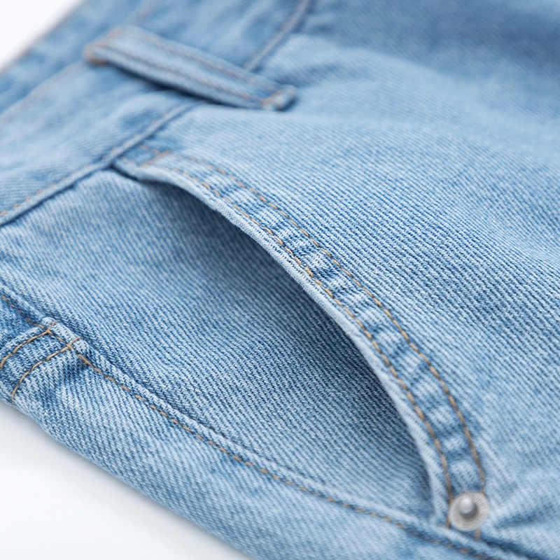 SEMIR Frauen Slim Fit Hohe Cropped Jeans mit Zerstörung Verjüngt-bein Jeans in Baumwolle Mischung Ankle-länge Jeans ernte Hosen Mode