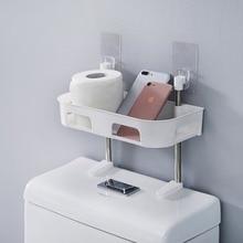 ACTIONCLUB 1/2/3 Layer Over The Toilet Bathroom Storage Shelf Plastic Pouch-free Holder Kitchen Spice Rack Home Organizer