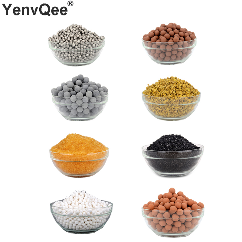DIY Fill Filter Cartridge Far Infrared Maifan Stone Calcium Sulfite Remove Chlorine Balls Alkaline Tourmaline KDF Resin Purifier