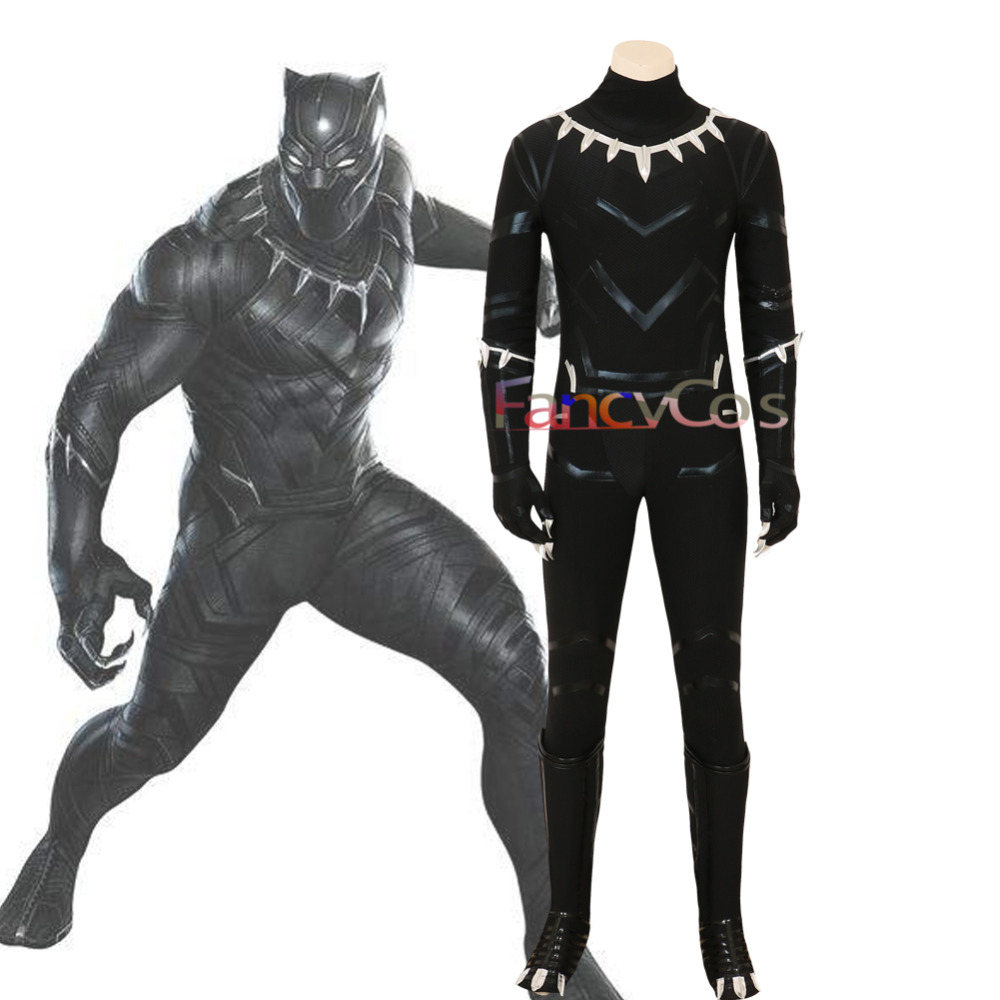 Halloween Avengers: Infinity War Black Panther Cosplay Costumes Costume Jumpsuit Boots Set Adult Custom Made