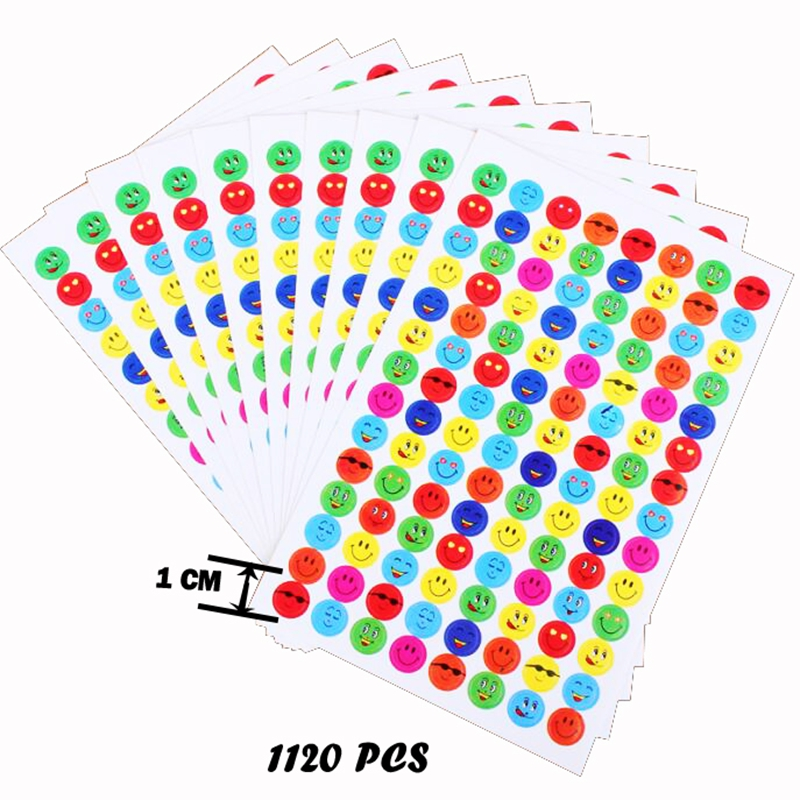 1120pcs Emoji Stickers Set Scrapbooking Diary Stickers Funny Anime Laptop Sticker Cheap Toys For Kids for Reward