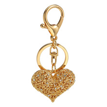 Key Rings Pendants for Gifts/ Luggage & Bags Accessories Keychains Phone Charms Zinc Alloy Diamond Heart Cute Purse Hardware