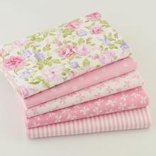 Квартал тильда швейных жир лоскутная постельные лоскутное ткани куклы розовый ткань