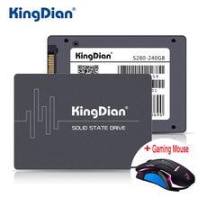 KingDian SSD 240 ГБ S280 3 года гарантии SATA3 2.5 дюймов жесткий диск 240 ГБ HD HDD напрямую с фабрики для компьютера + игровая Мыши
