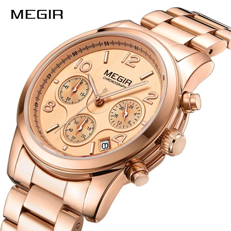 Top marca mujeres relojes de lujo de cuarzo analógico de acero inoxidable reloj de la manera de las señoras vestido femenino impermeable Mujer