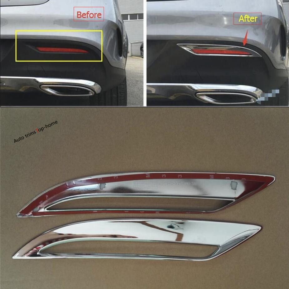 Yimaautotrims Chrome Rear Fog Light Lamp Cover Trim For Mercedes Benz GLE Coupe ( C292 ) 320 400 450 2015 - 2018 Exterior KitYimaautotrims Chrome Rear Fog Light Lamp Cover Trim For Mercedes Benz GLE Coupe ( C292 ) 320 400 450 2015 - 2018 Exterior Kit