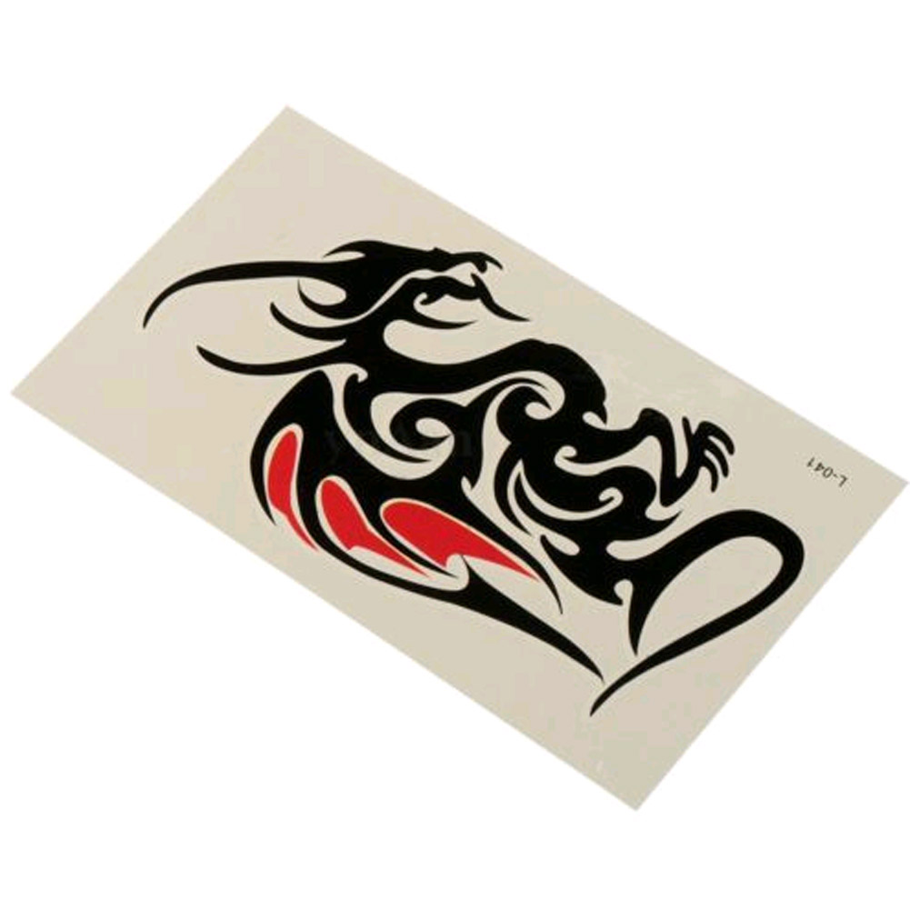 Waterproof Temporary Tattoo Sticker Of Body 10.5*6cm Cool Man Dragon Tattoo Totem Water Transfer High Quality 2