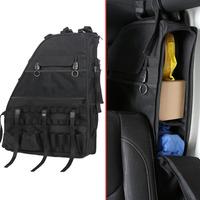 1Pcs Canva Black Interior Car Side Door Anti Roll Storage Tactical Bag Installed Tools Computer Fit