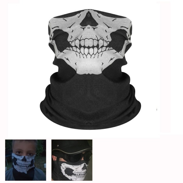 Mooreaxe Motorcycle Mask Balaclava Face Masks Neck Scarf Skull Ghost Mask Biker Motorbike Cycling Fishing Climbing Face Shield
