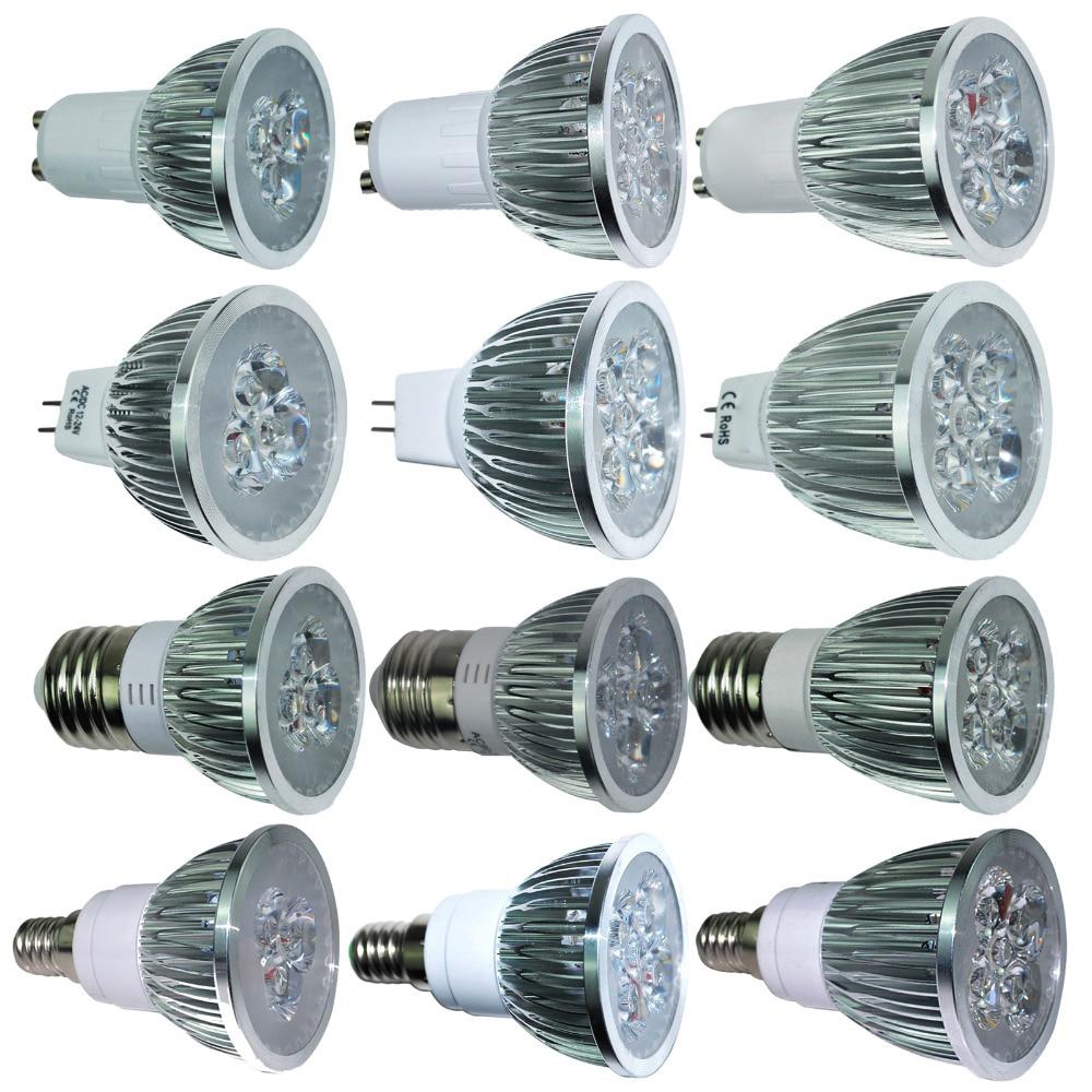 Ultra Bright 9W 12W 15W GU10 MR16 E27 E14 LED Bulb 85-265V Dimmable Led Spotlights WarmNaturalCool White LED lamp 110V 220V