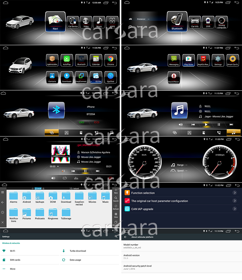 2G-RAM-10-25-Android-Navigation-display-for-Mercedes-CLS-Class-W218-2012-2013-touch-screen UI